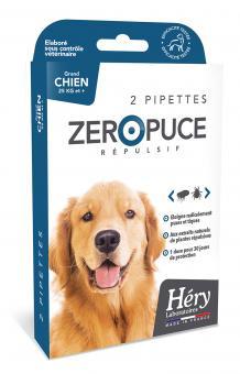 Héry Pipettes Répulsives Zéro Puce - Grande Chien