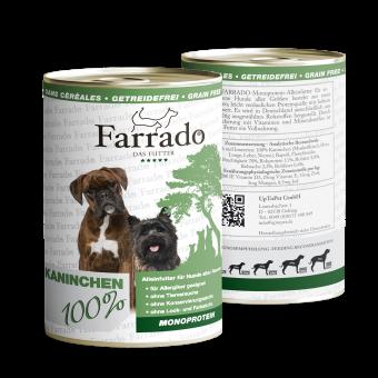 Farrado Chien - 100% Pure viande de lapin