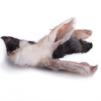 FARRADO Friandises pour chien - Oreilles de lapin avec fourrure 200g. sac
