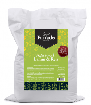 Farrado Chien - d'agneau et de riz 14kg MONO