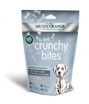 Arden Grange Crunchy Bites Sensitive poisson blanc de l'océan