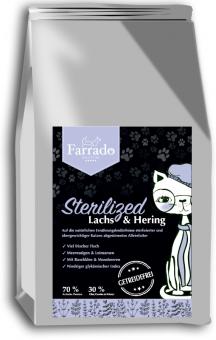 Farrado Chat - Stérilisé Saumon et haring, sans céréales 400 gr.