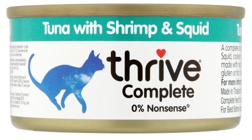 Thrive Chat - Thon aux Crevettes et Kalamari 75g
