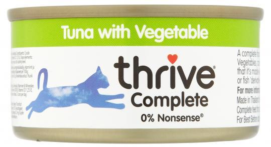 Thrive Chat - Filet de Thon aux Légumes 75g