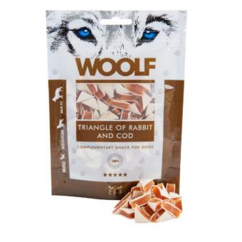 WOOLF triangle de lapin et de la morue pour chiens et chats