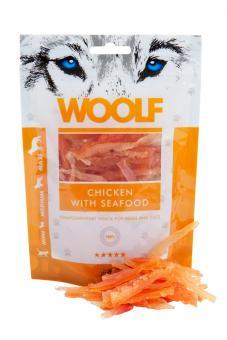 WOOLF poulet au saveur de fruits de mer pour chiens et chats